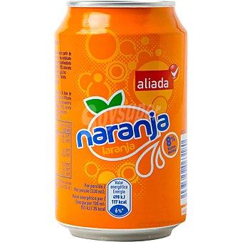 Aliada Refresco de naranja Lata 33 cl