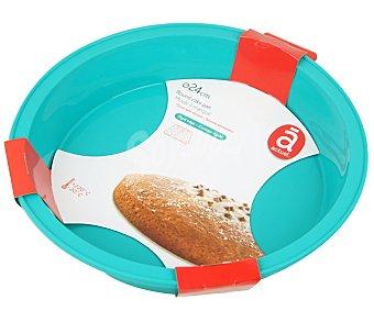 Actuel Molde redondo de silicona para tartas, 24 centímetros de diámetro 1 unidad