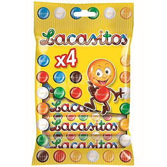 Lacasitos Grageas de chocolate Pack de 4x20 g