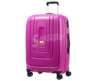 American tourister Maleta rígida de 34x53x79 cm, 4 ruedas pivotantes, color rosa tourister