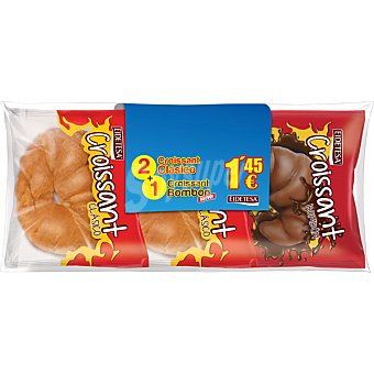 Eidetesa Croissants clásicos + 1 croissant bombón paquete 350 g Pack ahorro 2