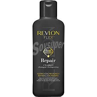 REVLON Champú Flex Repair nutrición profunda reparación máxima Frasco 400 ml