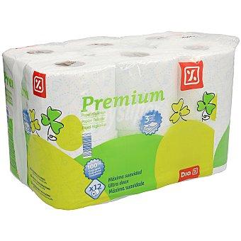 DIA Papel higiénico premium 3 capas paquete 12 uds Paquete 12 uds