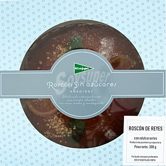 El Corte Inglés Roscón de Reyes sin azúcar pieza 300 g