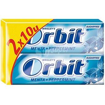 Orbit Chicles de menta sin azúcar envase 50 g Pack 2x10 unidades