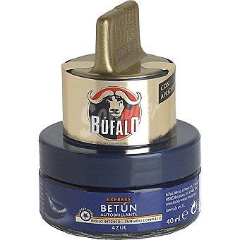 Bufalo Limpia calzado crema 2 en 1 azul tarro 50 ml con aplicador Tarro 50 ml
