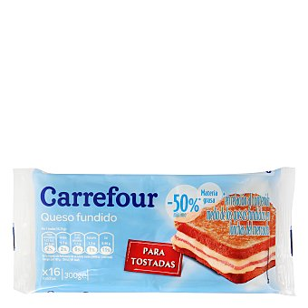 Carrefour Queso en lonchas light 300 g