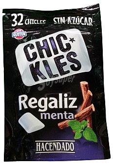 Hacendado Chicle menta regaliz grageas sin azucar Paquete 32 u