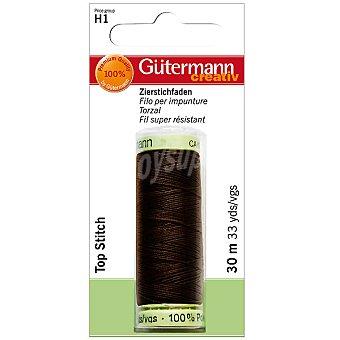 GÜTERMANN Gutermann bobina de hilo torzal negro muy resistente de 30 m