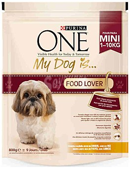 One Purina Purina ONE My Dog is... Perro Mini Food Lover Pavo y Arroz 800g 800 g