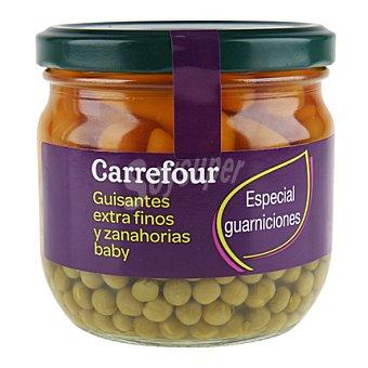 Carrefour Guisante extrafinos y zanahorias baby 215 g