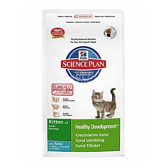 HILL'S SCIENCE PLAN KITTEN Alimento especial para un crecimiento sano de gatitos menores de 1 año con atún Bolsa 2 kg