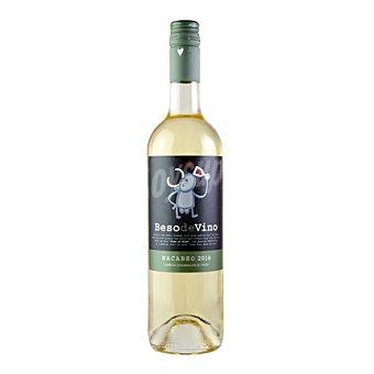 BESO DE VINO Vino blanco Macabeo 2014 Botella de 75 cl