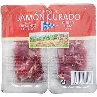 Hipercor Cintas de jamón curado Pack 2 envase 50 g