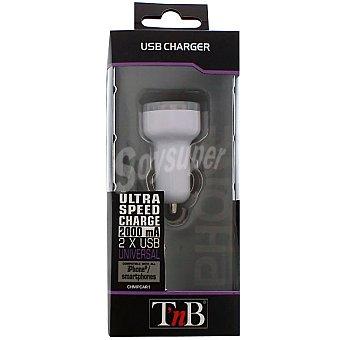 Tnb Cargador universal rápido con 2 puertos USB para coche