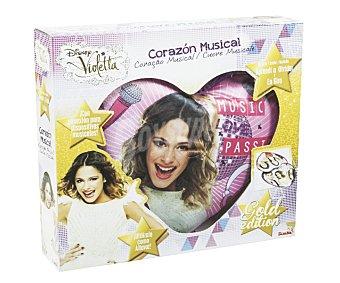 DISNEY Cojín Musical Violetta con Forma de Corazón 1 Unidad