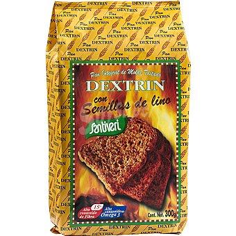 SANTIVERI DEXTRIN Semillas de lino pan tostado integral de molde Paquete 300 g