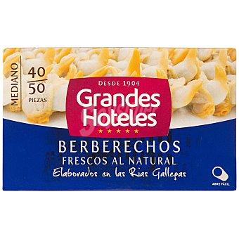 Grandes hoteles Berberechos al natural 40/50 piezas lata 63 grs Lata 63 grs