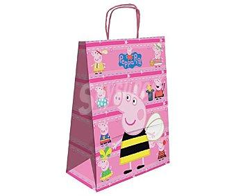 PEPPA PIG Bolsa para regalo con imágenes de Peppa Pig y de tamaño M 1 unidad
