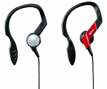 Qilive Auriculares tipo Deportivo negro/rojo, con cable HS996SP