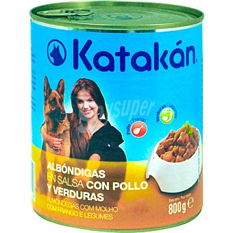 KATAKÁN Albóndigas en salsa con pollo y verduras para perros Lata 800 g