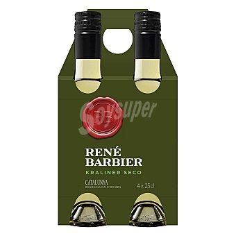 René Barbier Estuche de vino D.O. Cataluña blanco seco Pack 4x25 cl