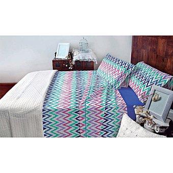 CASACTUAL Almeria Juego de cama multicolor en zigzag