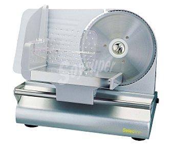 SELECLINE SMS008 Cortafiambres (producto económico alcampo), 100w, cuchilla de acero inoxidable de 19 centímetros de diámetro,