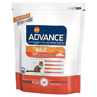 Advance Affinity Alimento de alta gama para gatos adultos de 1 a 10 años rico en salmón y arroz Adult Bolsa 400 g