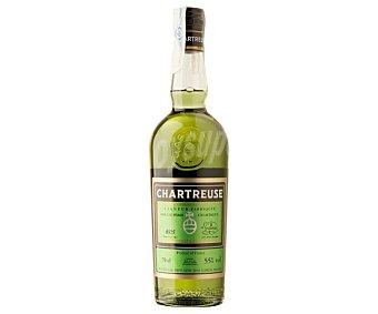 Chartreuse Licor verde elaborado a partir dehierbas maceradas, tipico de Francia Botella de 70 cl