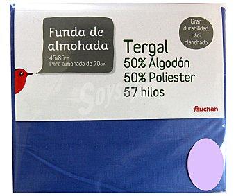 Auchan Funda de almohada color lavanda, 70-80 centímetros 1 Unidad
