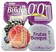 Yogur bifidus desnatado trozos frutas del bosque 4 unidades de 125 g (500 g) Hacendado