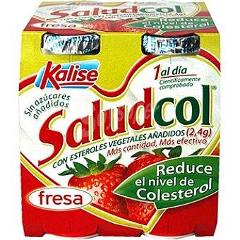 Kalise Saludcol, yogur líquido fresa Pack 4 envase 100 g