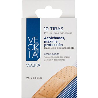 Veckia Tiritas protectoras adhesivas acolchada y máxima protección color piel Caja 10 unidades