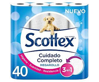 Scottex Papel higienico Megarollo Paquete 40 rollos