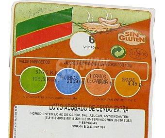 CAMPOGRIL Lomo extra de cerdo adobado sin gluten 280 Gramos