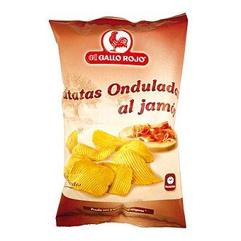 El Gallo Rojo Patatas onduladas al jamón Bolsa 150 g