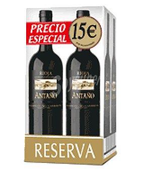 Antaño Vino tinto D.O. Rioja reserva Pack de 4x75 cl