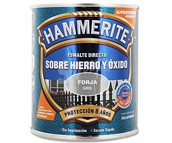 HAMMERITE Esmálte metálico para uso exterior antióxido y de color gris forja 0,75 litros