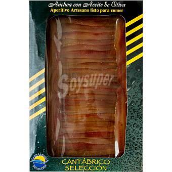 Cantábrico Selección Filetes de anchoa artesanas en aceite de oliva Bandeja 110 g