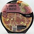 Pizza fresca jamon york queso con perlas de mozarella u 415 g Hacendado