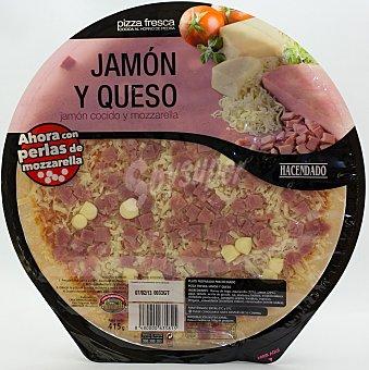 Hacendado Pizza fresca jamon york queso con perlas de mozarella u 415 g