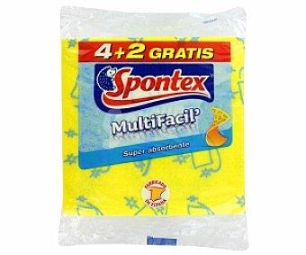 Spontex Bayeta multifácil 4+2 Unidades