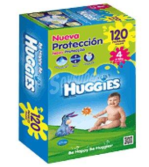 Huggies Pañal Cajón T4 9-15 Kg. 120 ud
