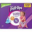 Pañales de aprendizaje talla 5 para niñas 11 a 18 kilogramos Paquete 26 u Huggies Pull-Ups
