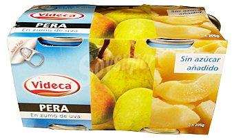 Videca Pera en su jugo 2 botes de 115 g peso escurrido