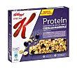 Barritas proteínas con grosella negra, semillas de calabaza y crema de almendra Pack 4 u x 21,5 g Special K Kellogg's