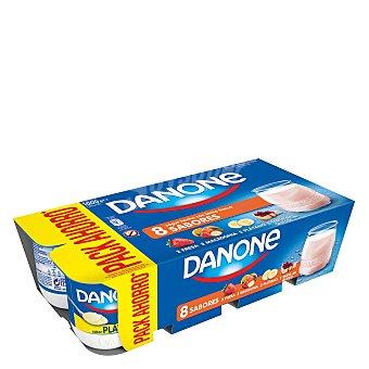 Danone Yogur de fresa-maced.-limón-tarta de queso 8 unidades de 125 g