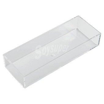 Belleza Organizador rectangular apilable acrílico transparente