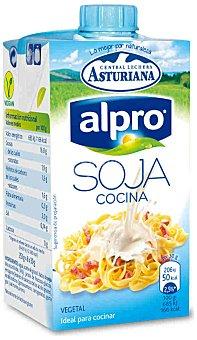 Central Lechera Asturiana Alpro, nata ligera de cocina 100% vegetal soja Brik 250 ml